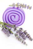 Lavender glycerin soap Stock Photo