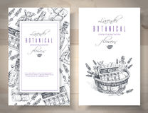Lavender graphic banners Stock Image