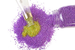 Lavender and green tea sea salt Royalty Free Stock Photography