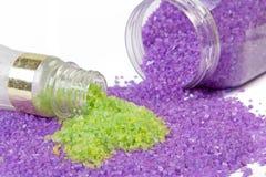 Lavender and green tea sea salt Stock Photography