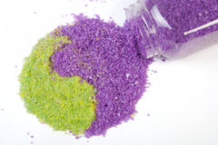 Lavender and green tea sea salt Stock Photos