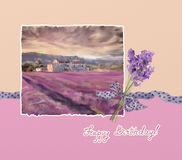 Lavender greeting Royalty Free Stock Photo