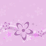 Lavender Grunge Flower Background Stock Images