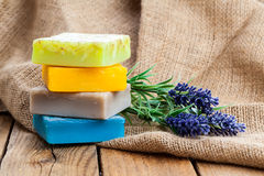 Lavender handmade soap bars Stock Images