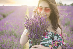 Lavender  Happy summer leisure walking Royalty Free Stock Photo