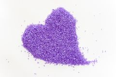 Lavender heart Royalty Free Stock Image