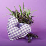 Lavender and Heart Royalty Free Stock Photos