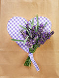 Lavender with heart Stock Images