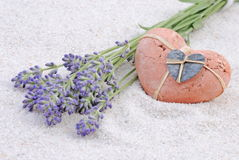 Lavender with heart Royalty Free Stock Photo