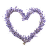 Lavender heart. On white background (gift, valentine, etc Stock Photos
