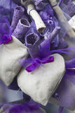 Lavender hearts Stock Photography