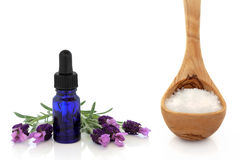 Lavender Herb and Sea Salt Royalty Free Stock Image