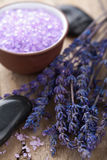 Lavender and herbal salt Royalty Free Stock Photo