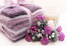 Lavender holiday spa treatment Stock Photography