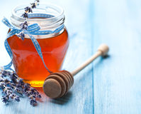 Lavender Honey Royalty Free Stock Photography