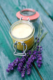 Lavender honey Stock Photo