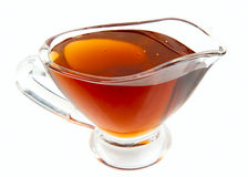 Lavender honey in gravy boat Stock Image