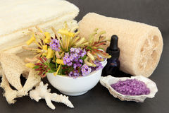 Lavender and Honeysuckle Spa Stock Photo