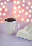 Lavender hot chocolate Stock Photo