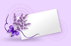 Lavender label background Royalty Free Stock Image