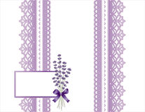 Lavender and Lace Present Royalty Free Stock Image