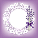 Lavender & Lace Round Doily Stock Image