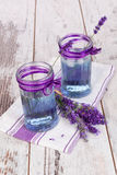 Lavender lemonade in purple and white. Royalty Free Stock Photography