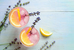 Lavender lemonade Royalty Free Stock Photo