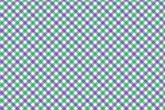 Lavender and Light Green Gingham pattern. Texture from rhombus/squares for - plaid, tablecloths, clothes, shirts, dresses, paper,. Bedding, blankets, quilts and stock illustration