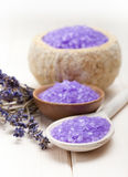 Lavender - minerals for aromatherapy Royalty Free Stock Photos