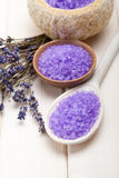 Lavender - minerals for aromatherapy Stock Images