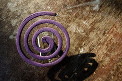 Lavender mosquito coil. mosquito repellent. Anti-mosquito. Preve. Ntion of mosquito-borne diseases Stock Photo