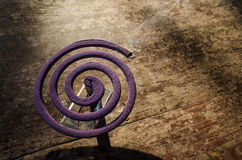 Lavender mosquito coil. mosquito repellent. Anti-mosquito. Preve. Ntion of mosquito-borne diseases Stock Image