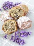 Lavender muffins Royalty Free Stock Photo