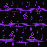 Lavender music Royalty Free Stock Photography