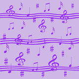 Lavender music Royalty Free Stock Photos