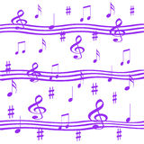 Lavender music Stock Photography