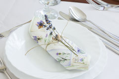 Lavender napkin Royalty Free Stock Images