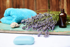 Lavender natural cosmetics. For skincare Royalty Free Stock Photography
