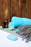 Lavender natural cosmetics. For skincare Royalty Free Stock Image