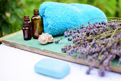 Lavender natural cosmetics. For skincare Royalty Free Stock Photos
