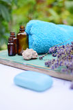 Lavender natural cosmetics. For skincare Royalty Free Stock Photo