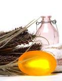 lavender natural soap Στοκ Εικόνες