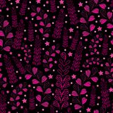 Lavender Nights-Love in Parise Seamless Repeat Pattern Background royalty free illustration
