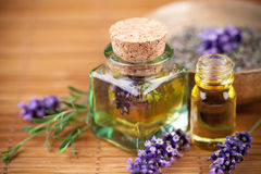 Lavender oil stock images