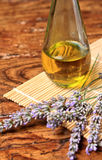 Lavender oil Stock Photo