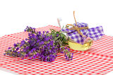 Lavender and oil Stock Image