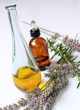 Lavender oil and essence Royalty Free Stock Photography