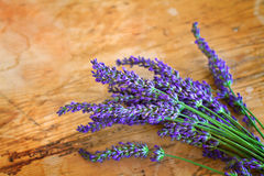 Lavender on old rustic wood Stock Photo