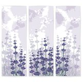 Lavender paper business cards with ink spots Stock Photo